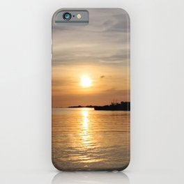 Sunrise at the inlet iPhone Case