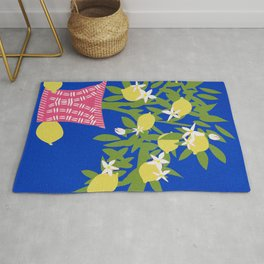 Lemon Tree in Pink Vase No 01 Rug