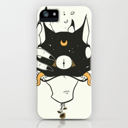 Two Headed Black Cat In Witch Hand iPhone Case