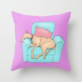 snoozing Throw Pillow