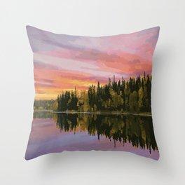 Narrow Hills Provincial Park Throw Pillow