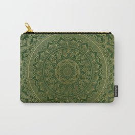 Mandala Royal - Green and Gold Carry-All Pouch