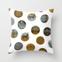 Scots Dots Throw Pillow