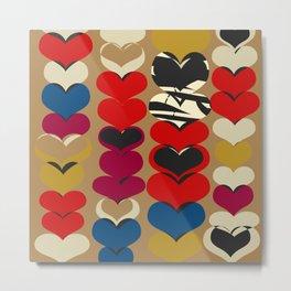 HAPPY HEARTS N3 Metal Print