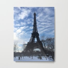 Paris in Winter Metal Print