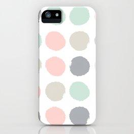 Hayes - minimal dots gender neutral baby modern nursery art decor trendy iPhone Case