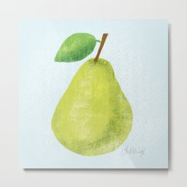 Textured Pear Metal Print