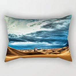 Tardis Art With Soft Clouds Rectangular Pillow