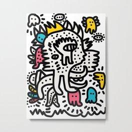 Graffiti King with Funk Flashy Colored Ghost Metal Print