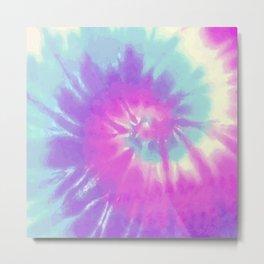 Swirl Pastel Tie Die Metal Print