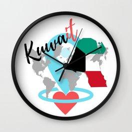 Love Kuwait Wall Clock