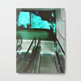 Wynyard Escalators Metal Print