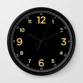 Numerato - Black Wall Clock