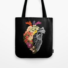 Flower Heart Spring Tote Bag
