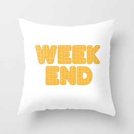 Weekends are for waffles - Pancake Throw Pillow
