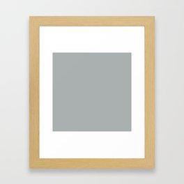 Paloma Grey Pastel Solid Color Block Gerahmter Kunstdruck