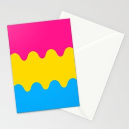 Wavy Pansexual Flag Stationery Cards