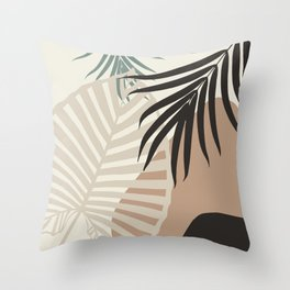 Minimal Tropical Palm Leaf Finesse #1 #tropical #decor #art #society6 Throw Pillow