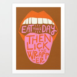 Eat This Day - Copper Art Print
