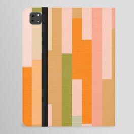 Retro Linear Autumnal Pattern iPad Folio Case