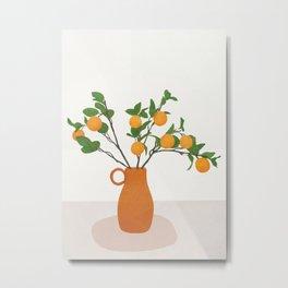 Orange Branches Metal Print