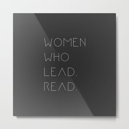 women who lead read! Metal Print