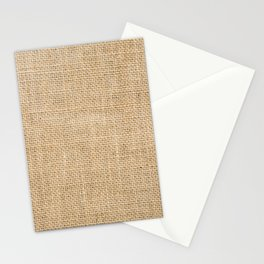 Burlap Fabric Stationery Cards