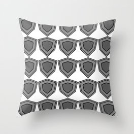 shields in shades of grey Throw Pillow