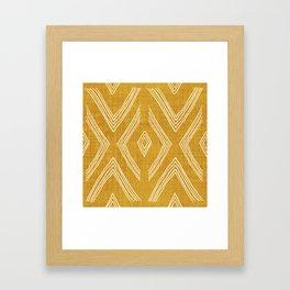 Birch in Gold Framed Art Print