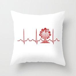 Technology Teacher Heartbeat Throw Pillow