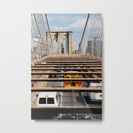 new york city ... brooklyn bridge V Metal Print