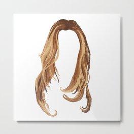 Blonde Hair Metal Print
