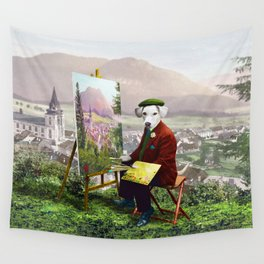 Sir Langford Labrador While Plein Air Painting Wall Tapestry