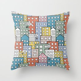 Wishes in the city Throw Pillow