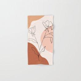 Poppies line drawing Hand & Bath Towel
