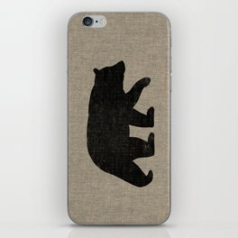 Black Bear Silhouette iPhone Skin