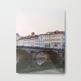 Arno Sunset - Florence Italy Architecture, Travel Photography Metal Print