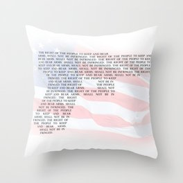 Second Amendment Throw Pillow