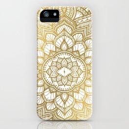 golden hamsa and mandala on classic blue iPhone Case