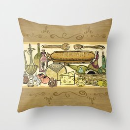 The Joy Of Cooking Throw Pillow