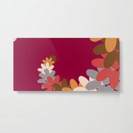 Creative Vector Illustration from Random Colorful Flowers Metal Print