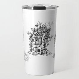 Tree Huts Travel Mug