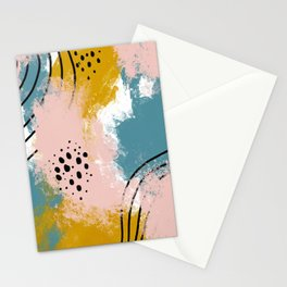 Painted Splatter Stationery Cards