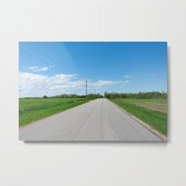 take the back roads Metal Print
