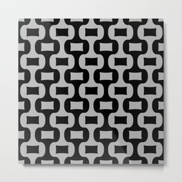 Mid Century Modern Ogee Pattern 359 Metal Print