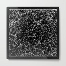 Black and White Flox Graphic Metal Print