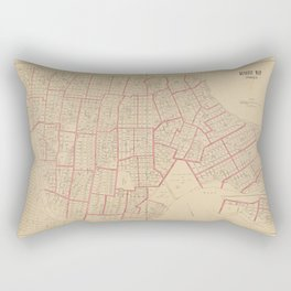 Plat maps of southwestern part of the Borough of the Bronx Rectangular Pillow