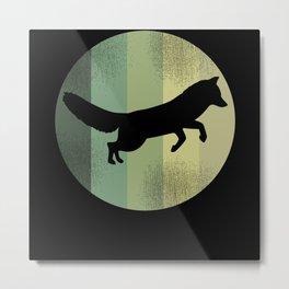Cute Fox Motif For All Ages Metal Print