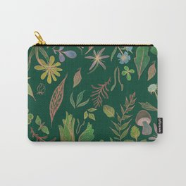 Emerald Flora Carry-All Pouch