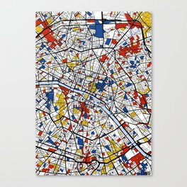 Paris Mondrian Canvas Print
